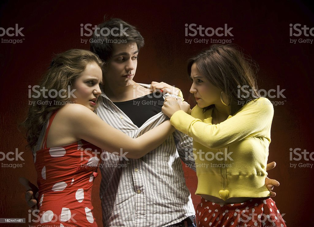 No! He is Mine! royalty-free stock photo