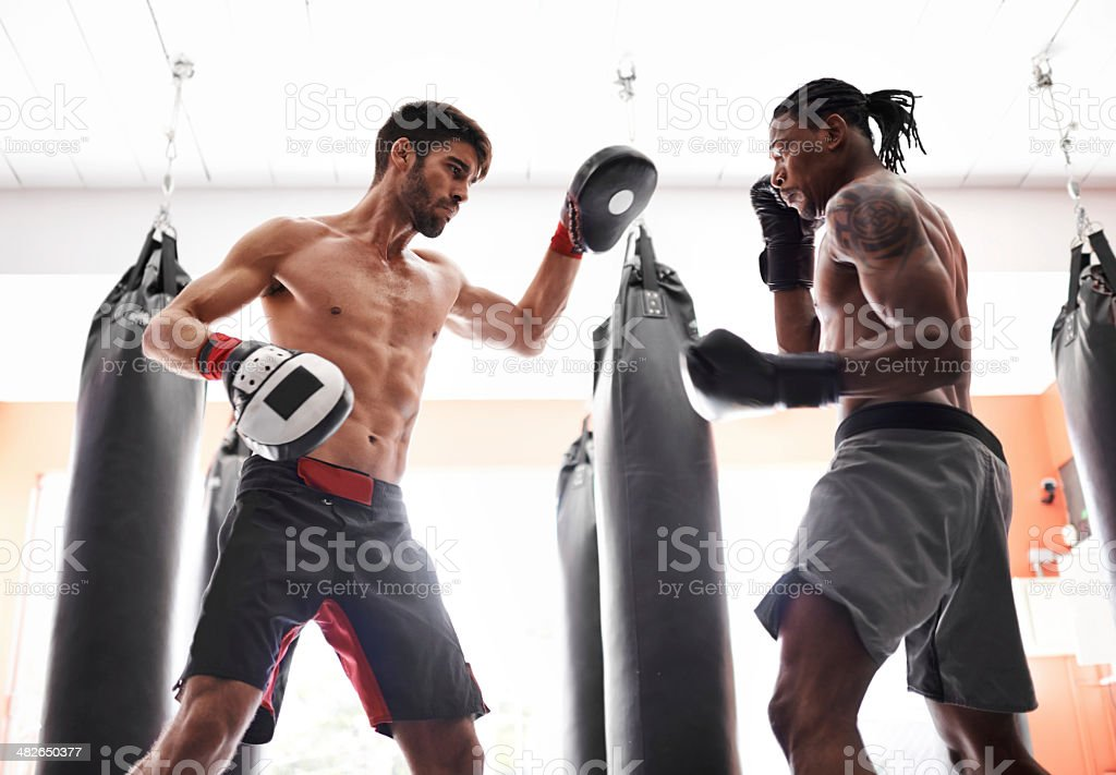 No holds barred workout royalty-free stock photo