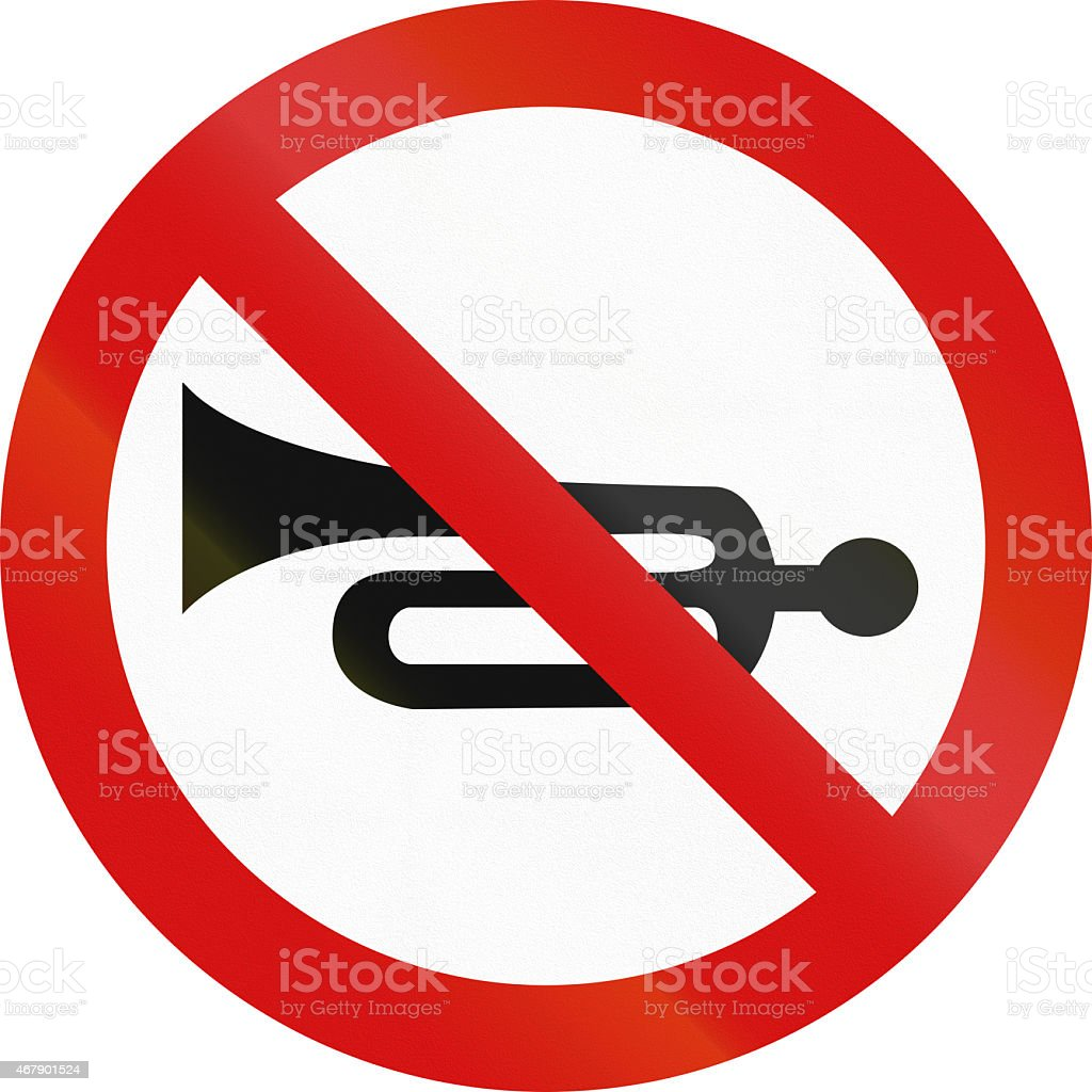 No Honking in Poland stock photo