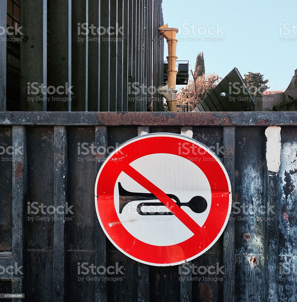 No honking sign royalty-free stock photo