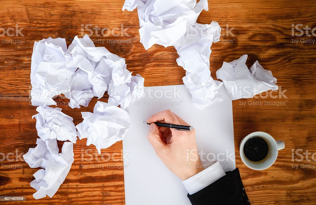 no idea what to write about stock photo