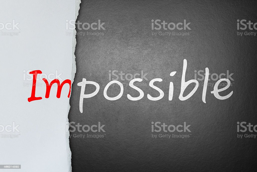 No impossible, only possible stock photo