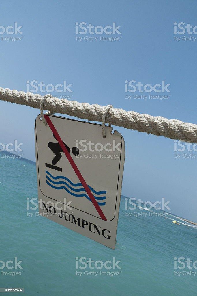 No Jumping sign stock photo