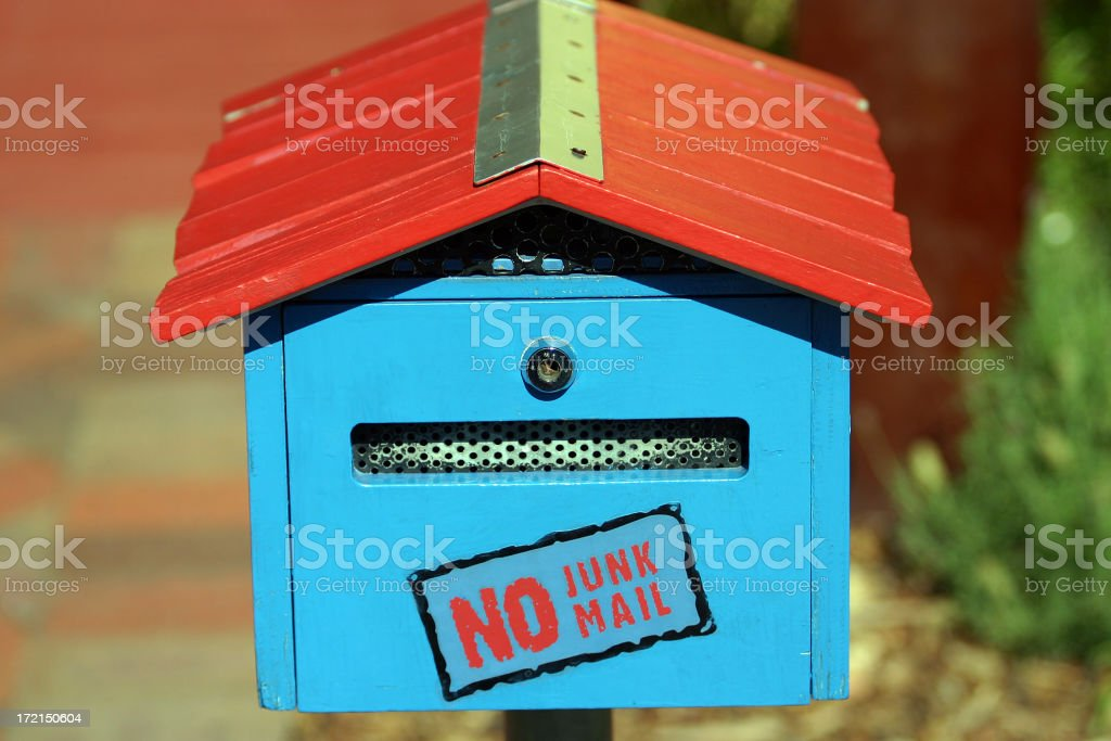 no junk mail royalty-free stock photo