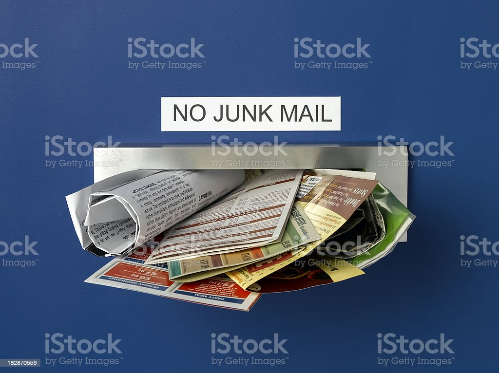 no junk mail stock photo