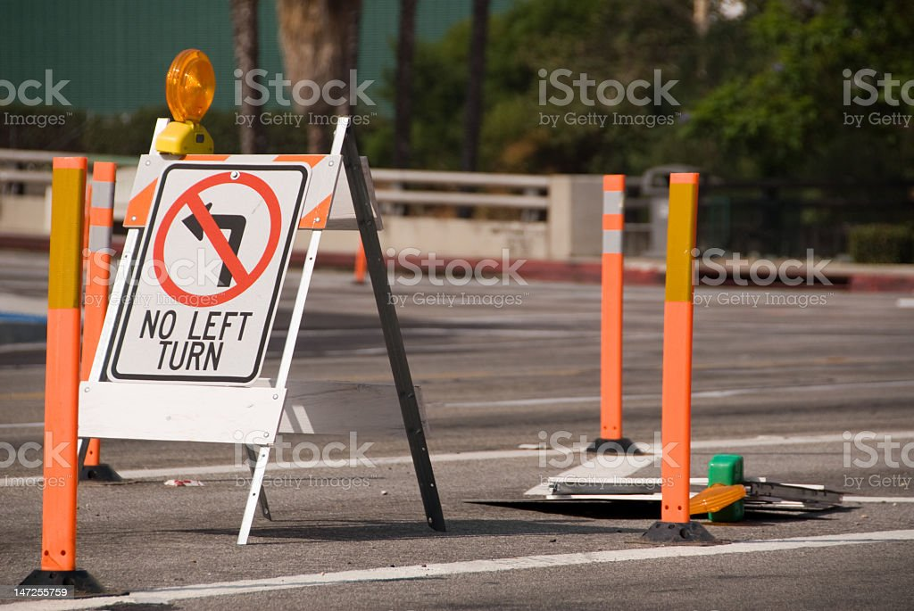 No Left Turn #3 - Sign Series stock photo