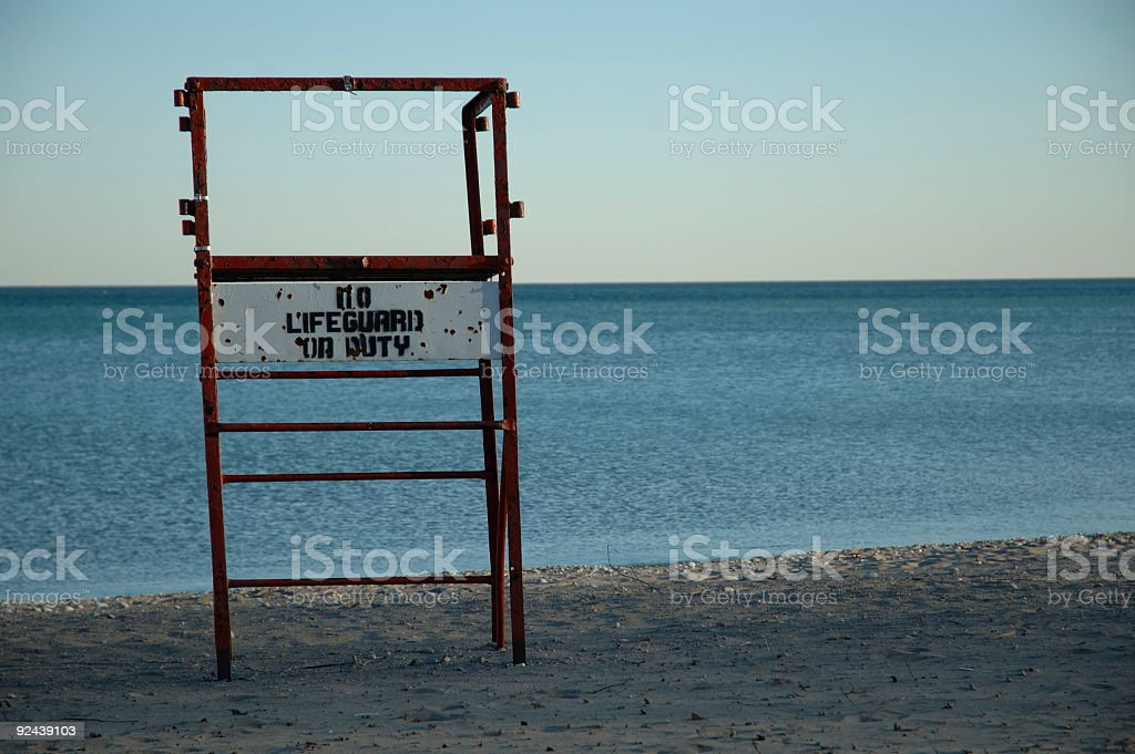 No Lifeguard Left royalty-free stock photo