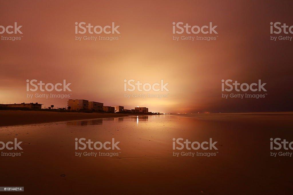 No Lights Cocoa Beach stock photo