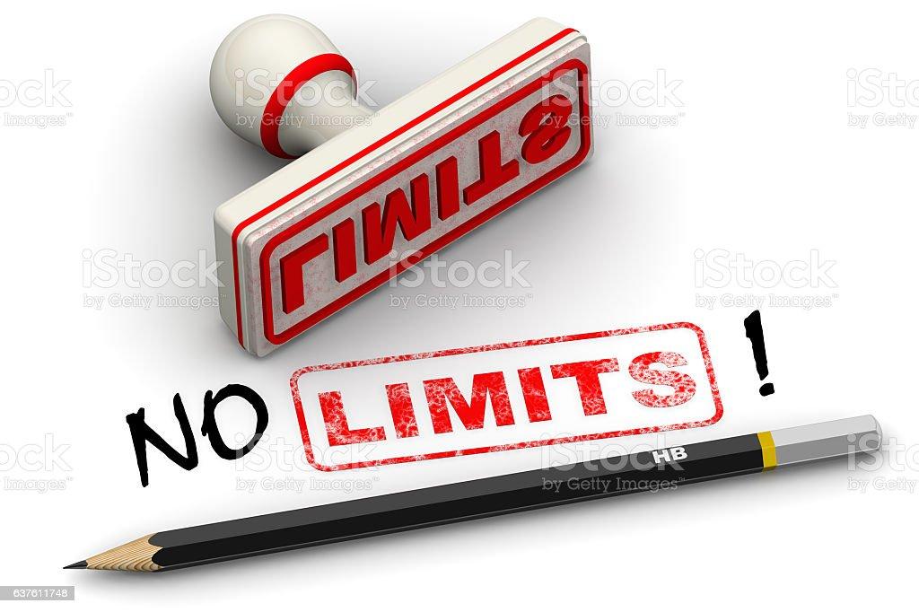 No limits! Corrected seal impression stock photo