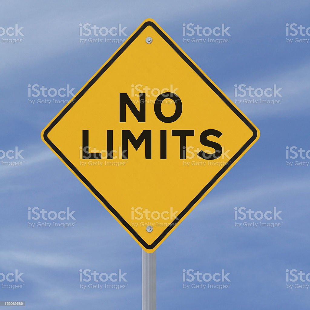 No Limits stock photo