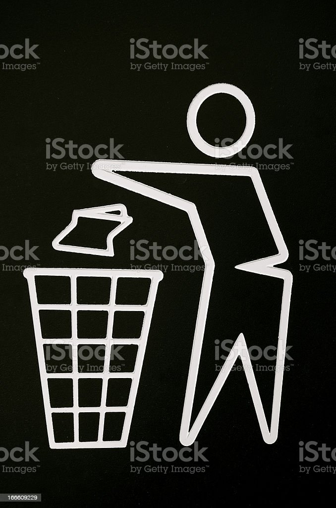 No littering sign royalty-free stock photo