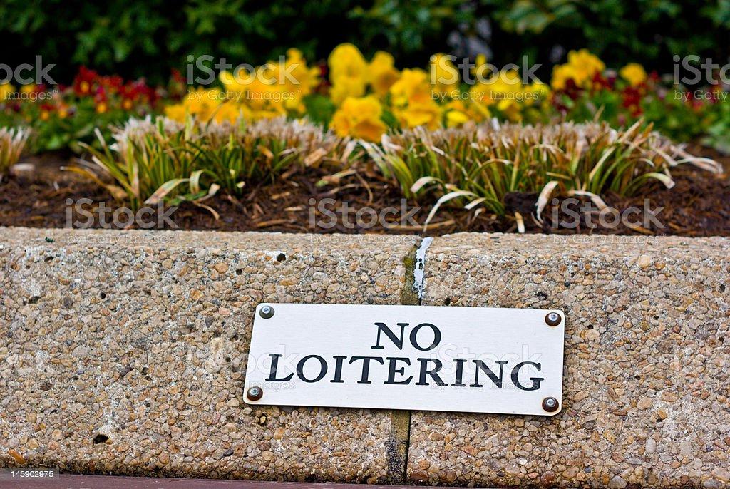 No Loitering Sign stock photo