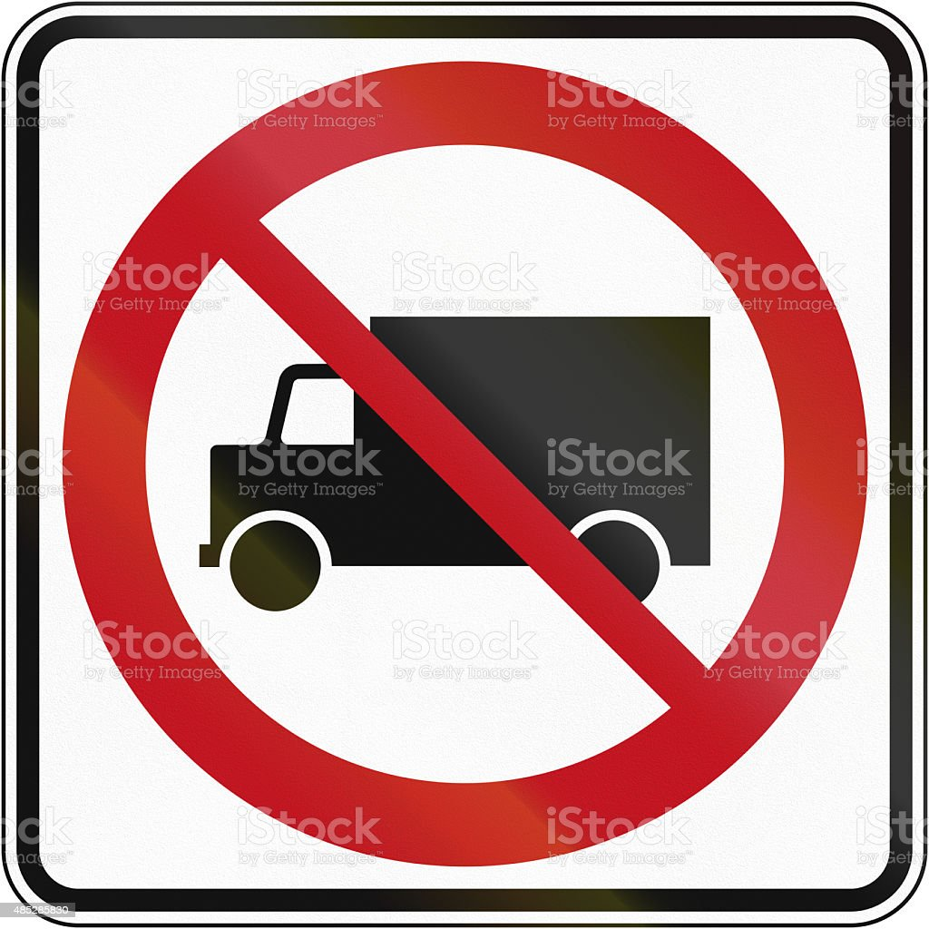 No Lorries in Canada stock photo