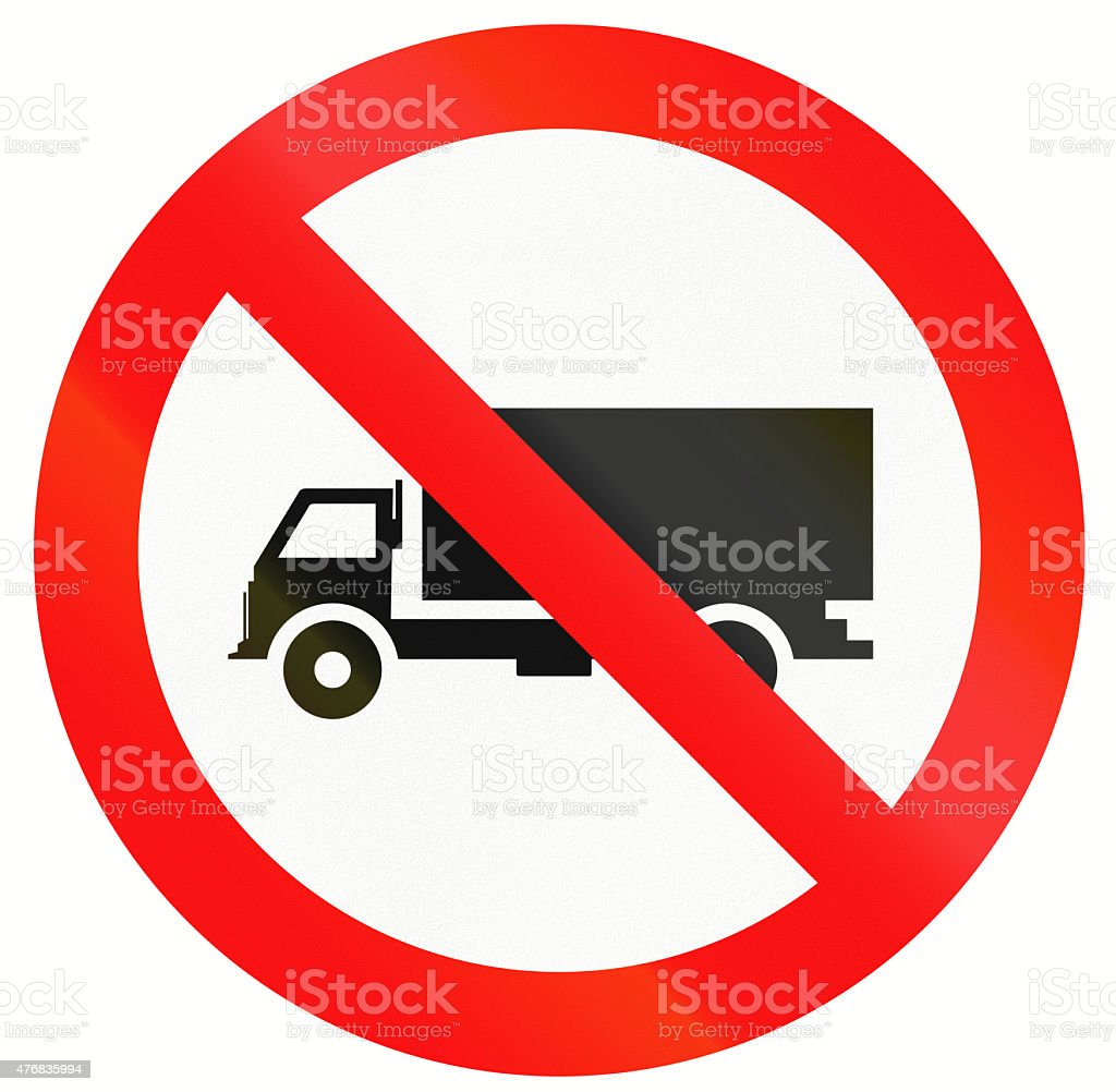 No Lorries in Indonesia stock photo
