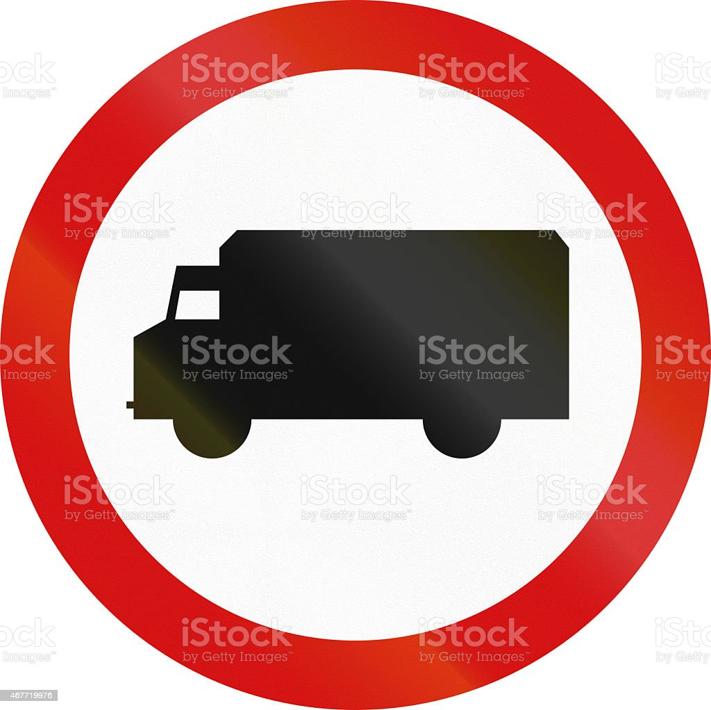 No Lorries in Poland stock photo