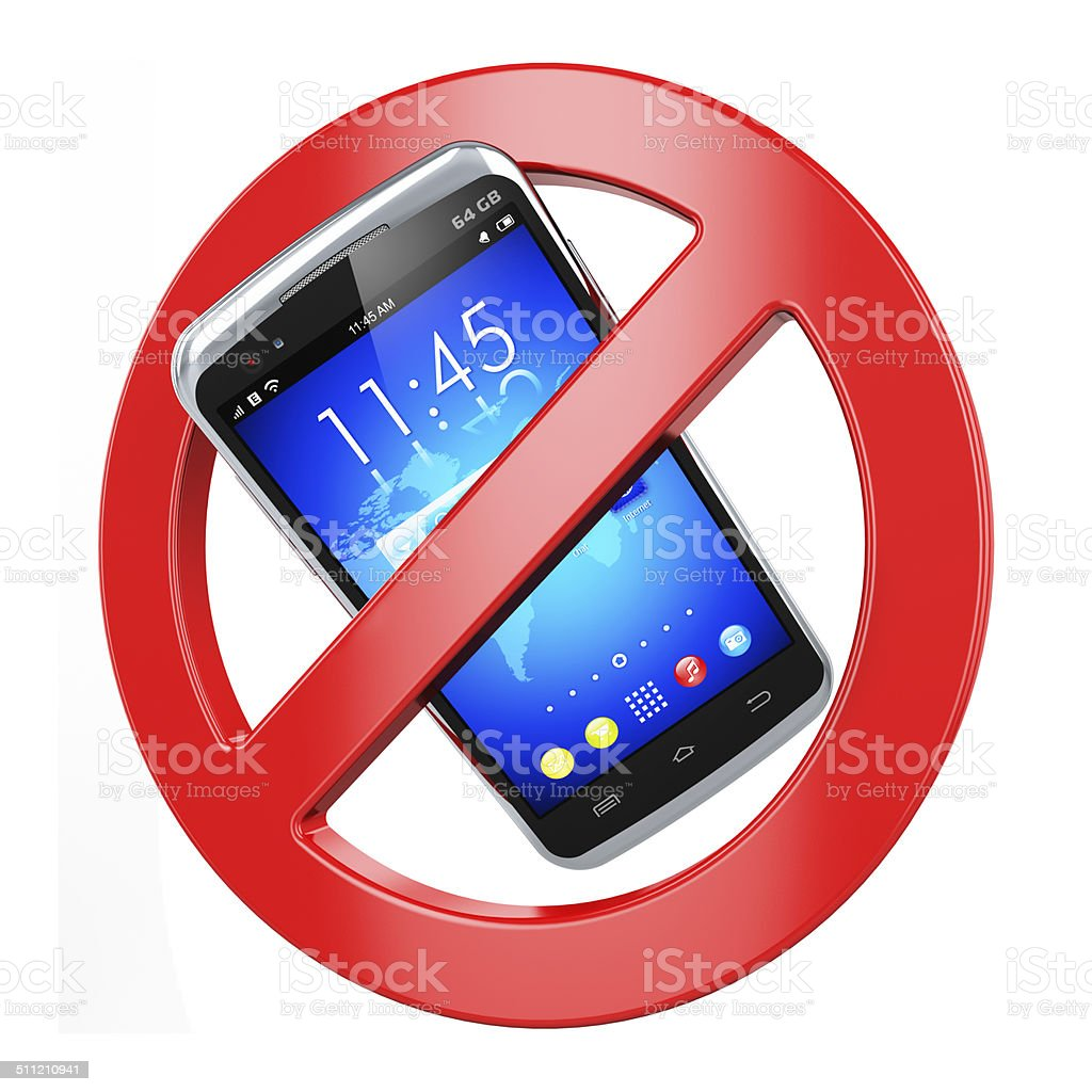 No mobile phone sign stock photo