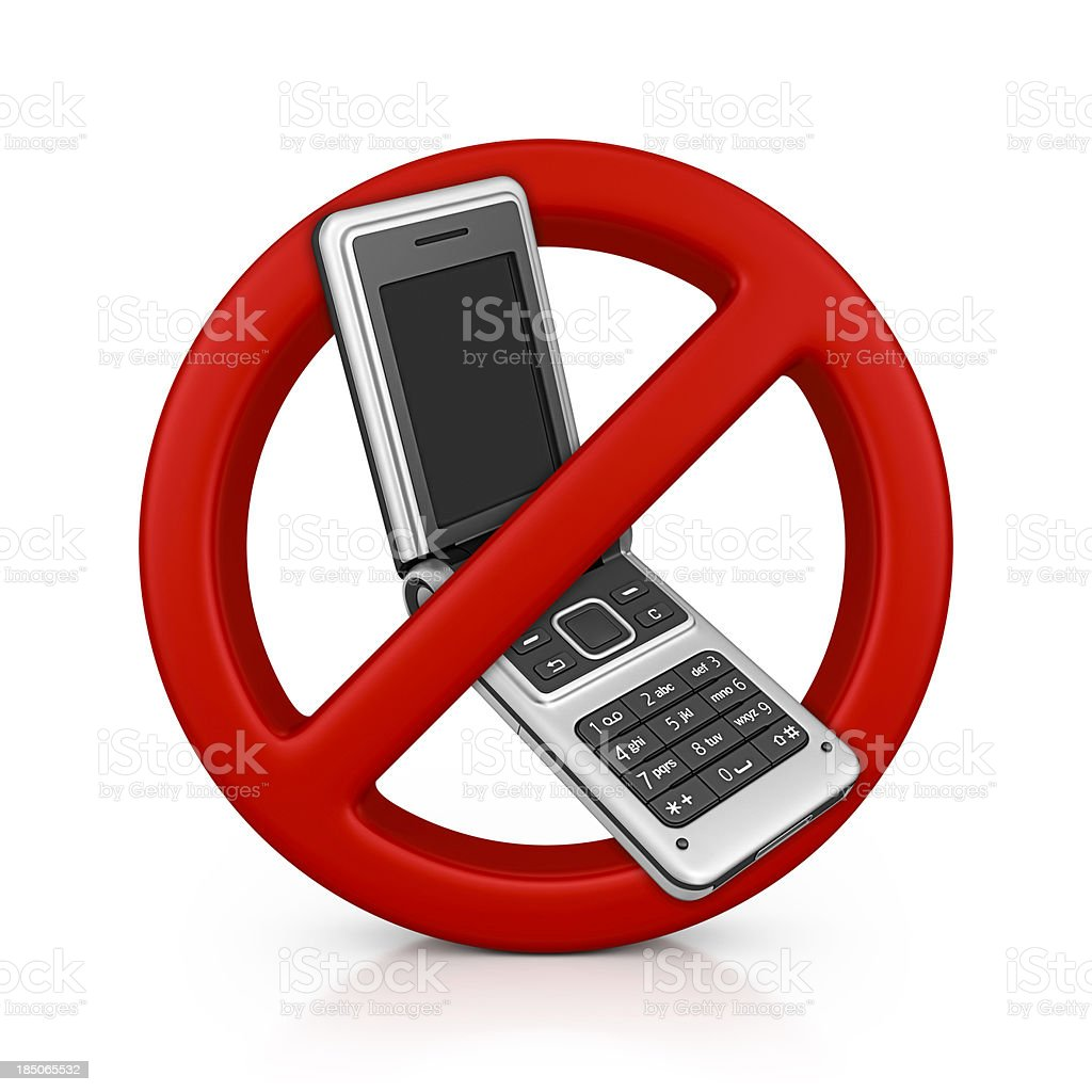 no mobile royalty-free stock photo