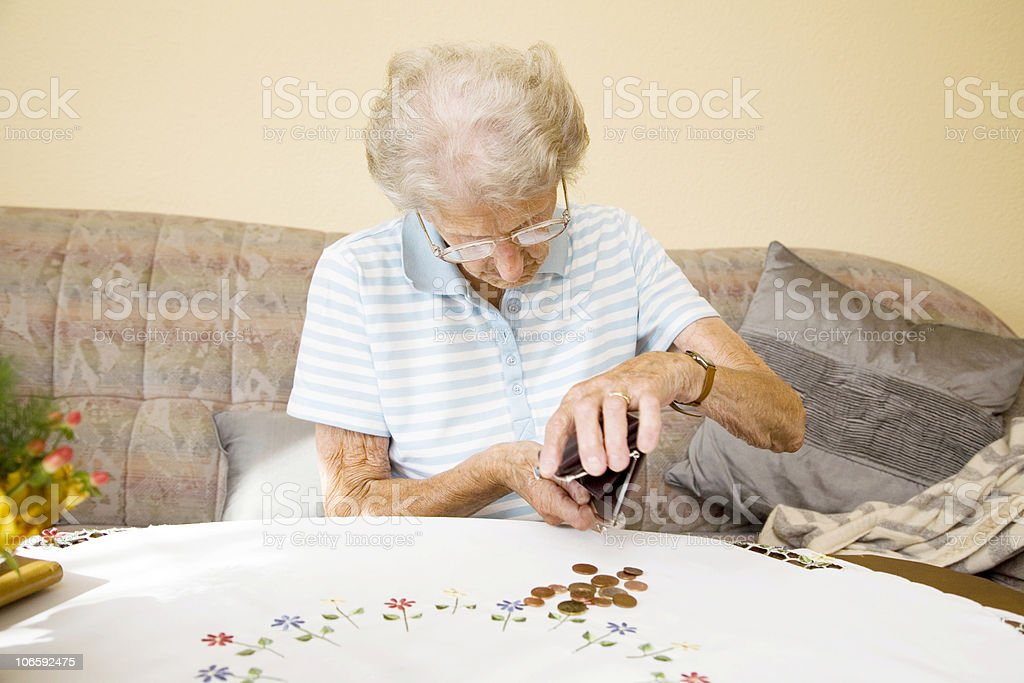 no money for old woman royalty-free stock photo