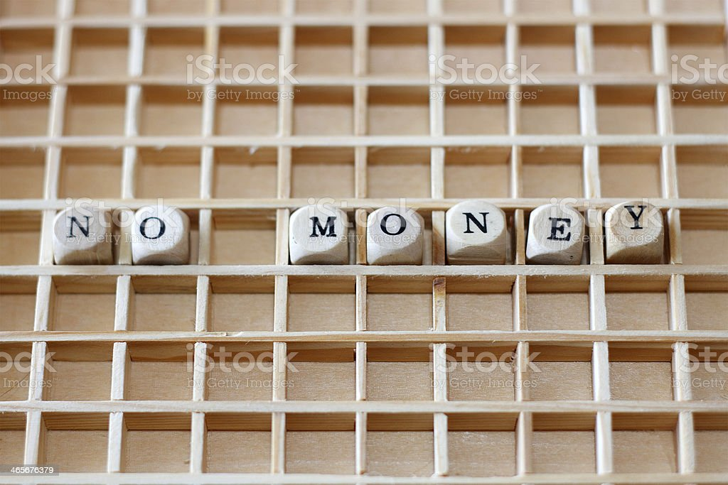 No money - puzzle royalty-free stock photo