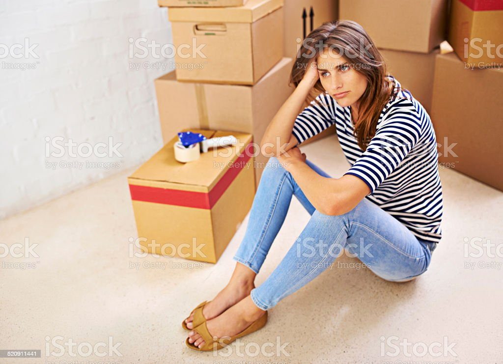 No more boxes! stock photo