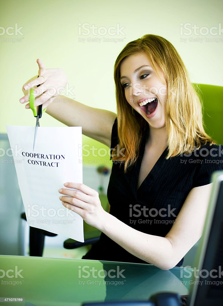 No more cooperation stock photo