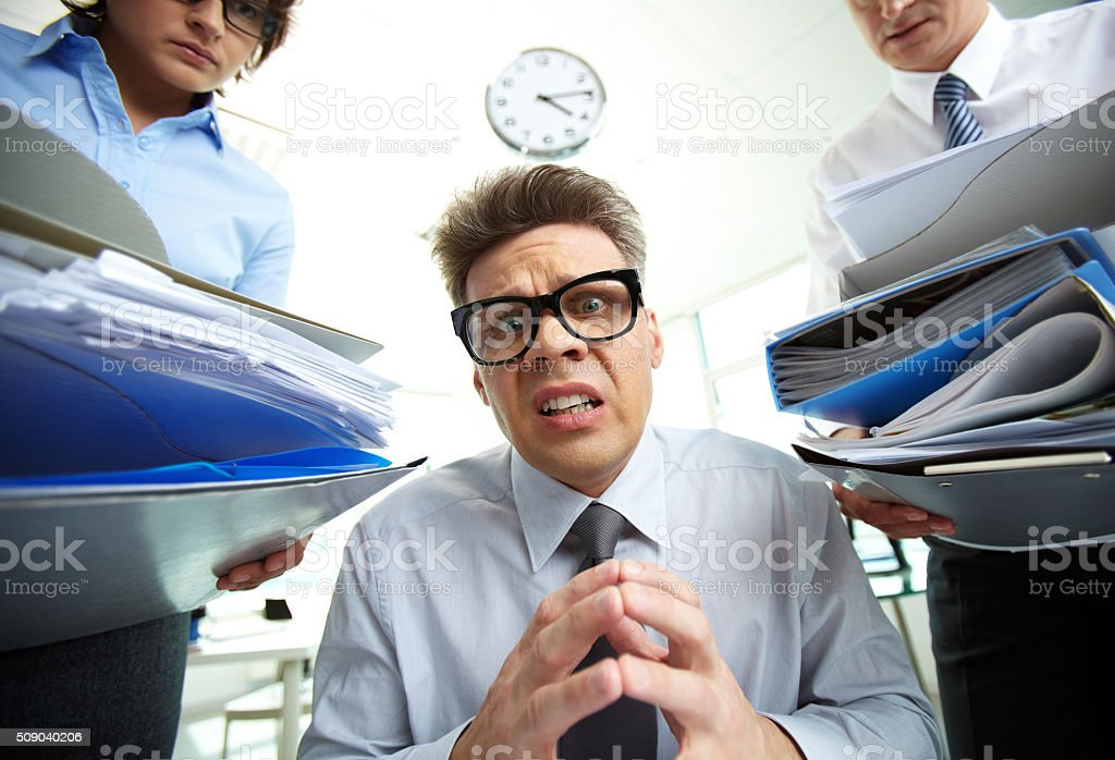 No more paperwork stock photo