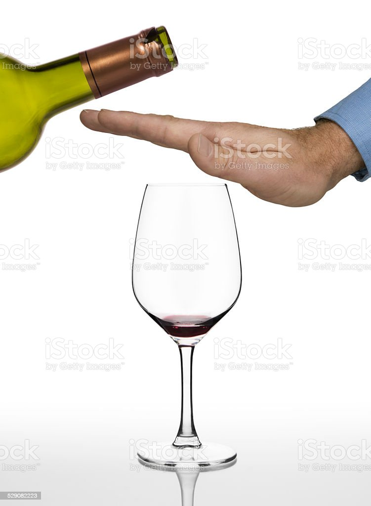 No more red wine stock photo