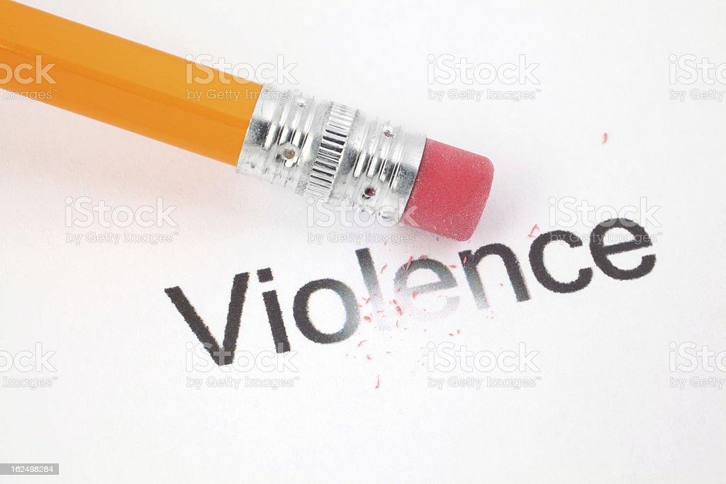 No More Violence royalty-free stock photo