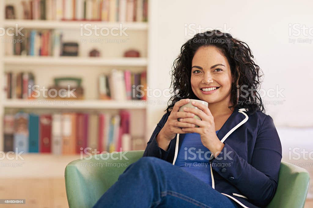 No morning is complete without coffee stock photo
