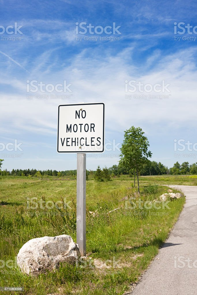 No Motor Vehicles royalty-free stock photo