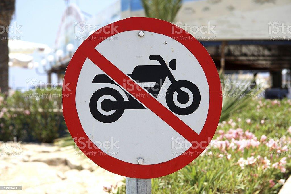 No motorbikes sign royalty-free stock photo