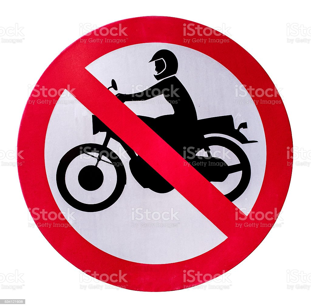 No motorcycle sign. stock photo