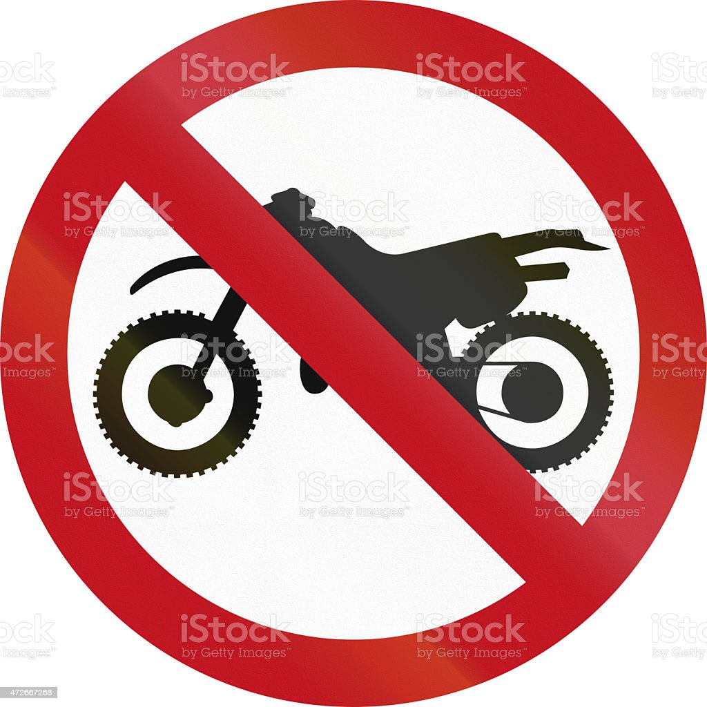 No Motorcycles in Colombia stock photo