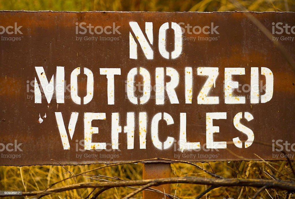 no motorized vehicles sign royalty-free stock photo