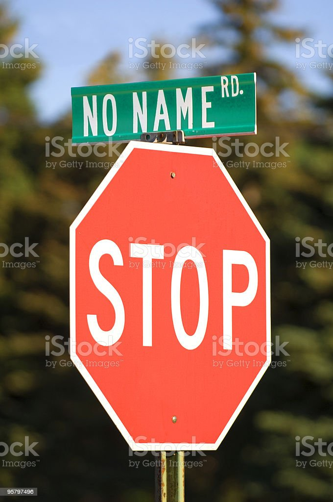 No Name Road royalty-free stock photo