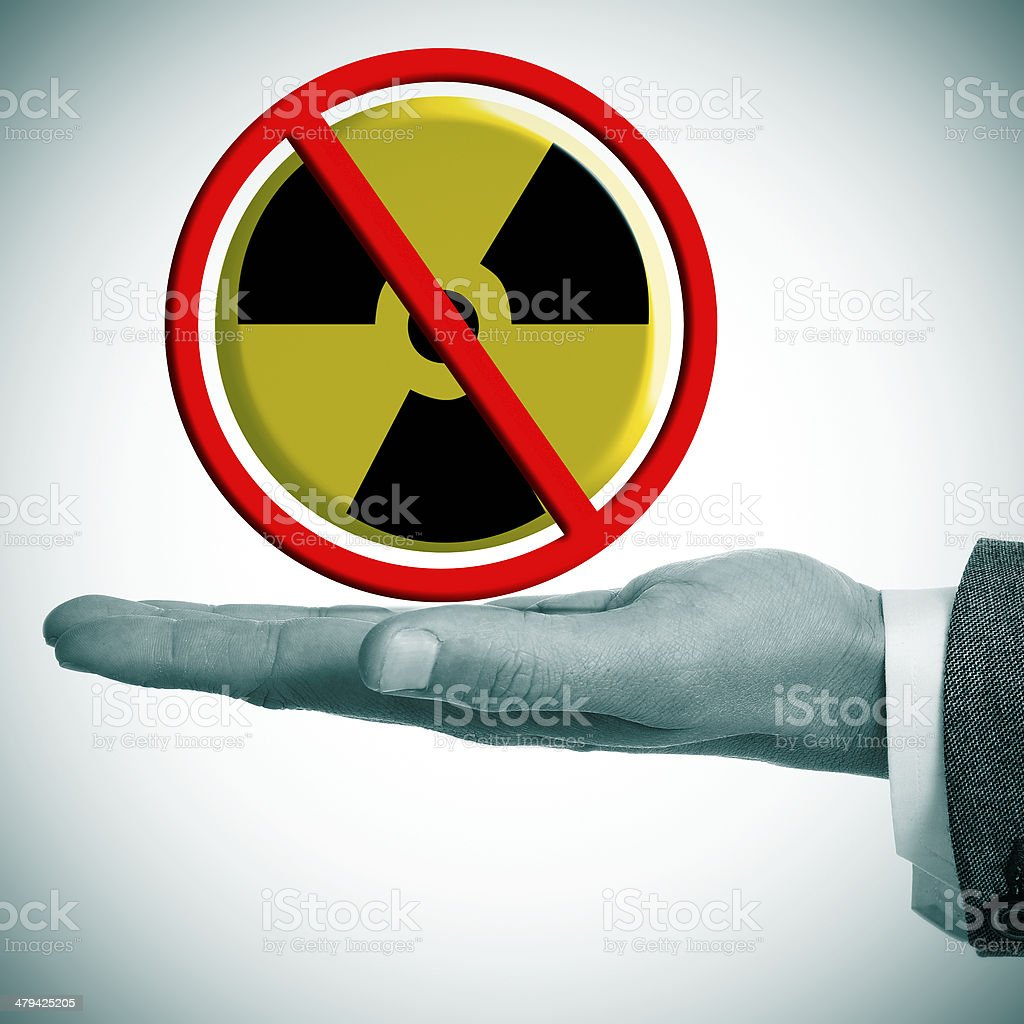 no nuclear power royalty-free stock photo