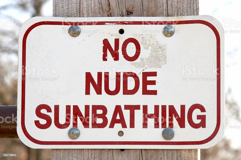 No Nude Sunbathing royalty-free stock photo
