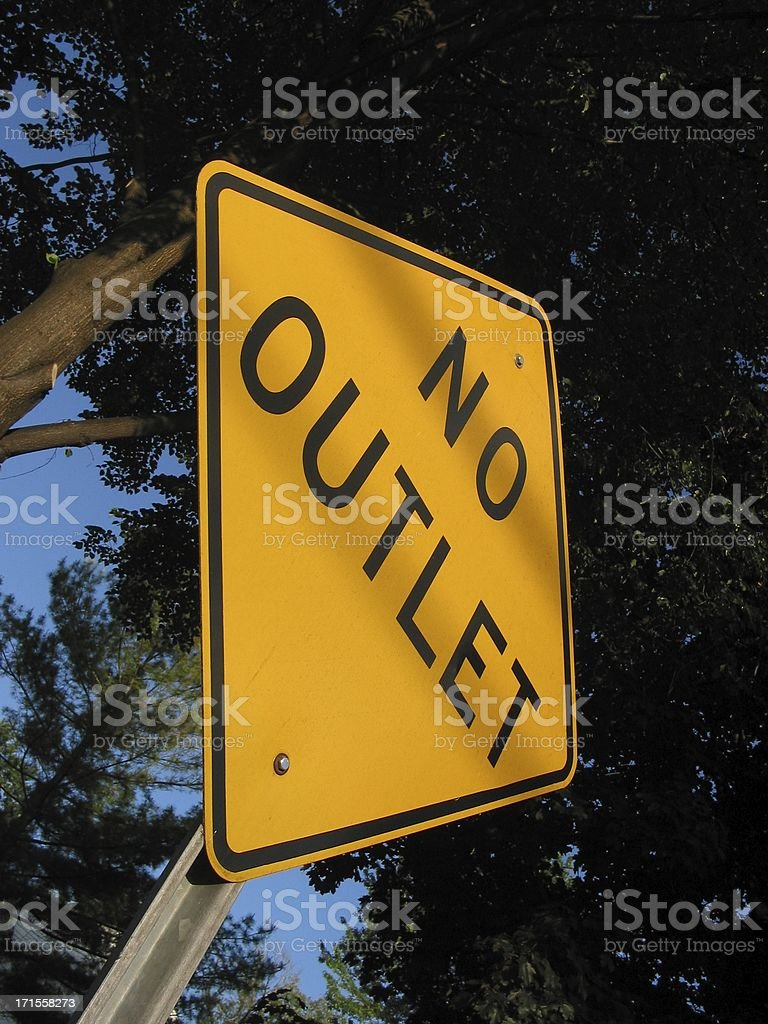 no outlet street sign stock photo