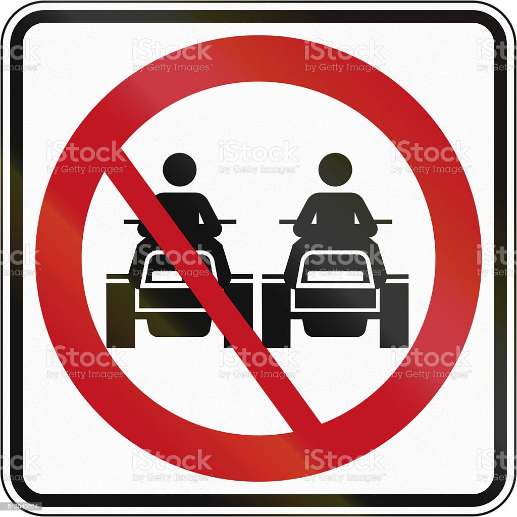 No Overtaking For ATVs in Canada stock photo