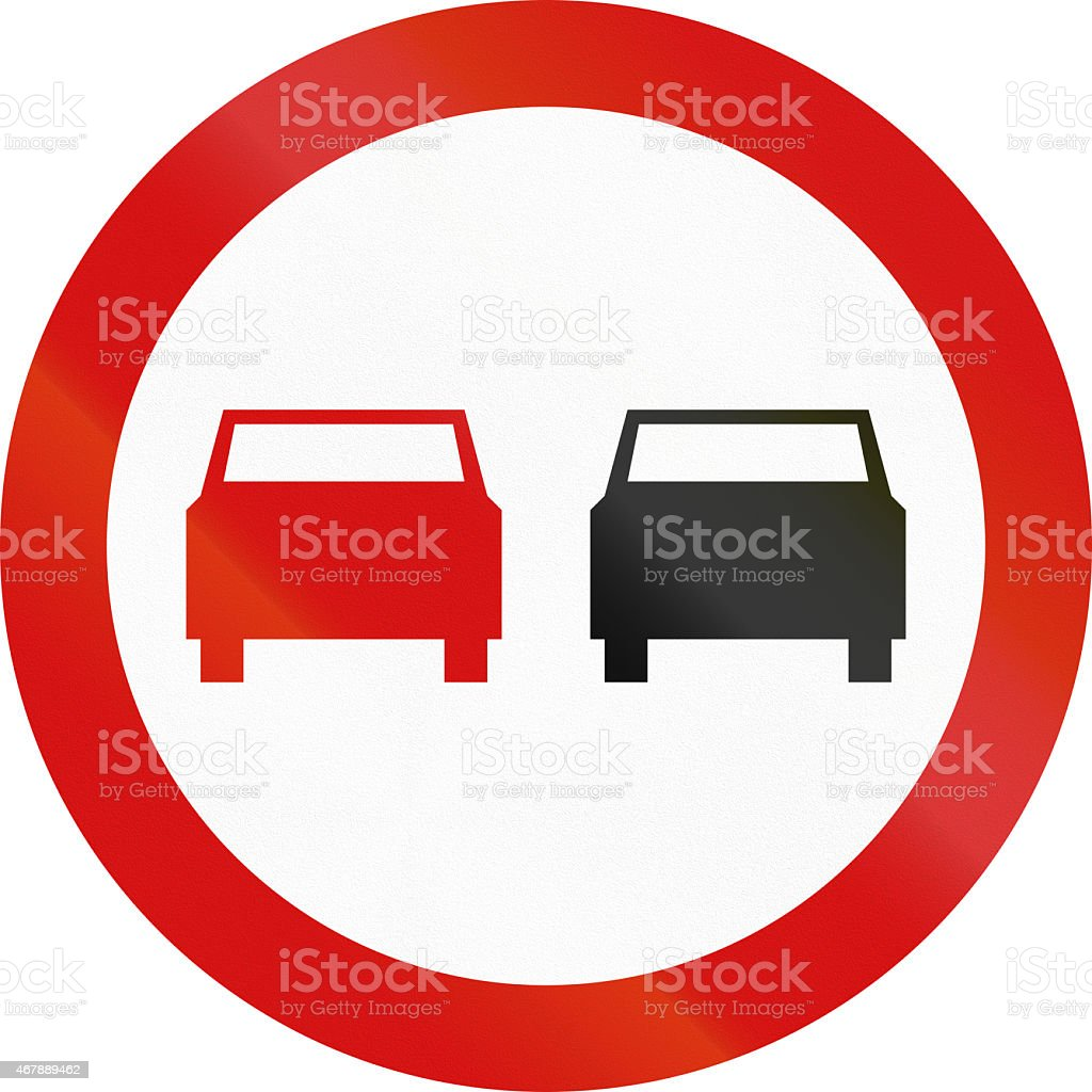 No Overtaking in Poland stock photo