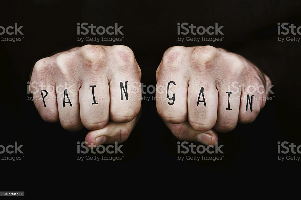 No Pain No Gain royalty-free stock photo