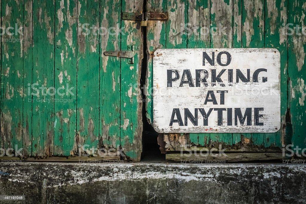 No parking at anytime stock photo
