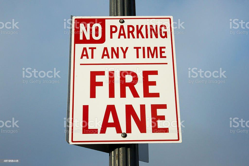 Nessun parcheggio fuoco Lane foto stock royalty-free
