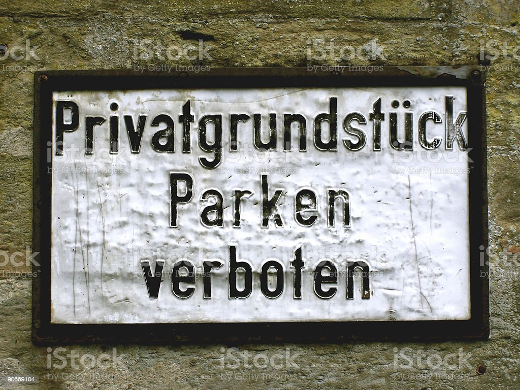no parking, german Sign stock photo