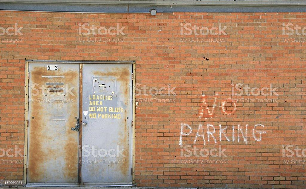 No parking - loading zone. stock photo