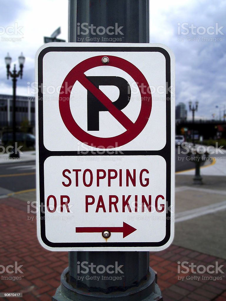 No Parking or Stopping royalty-free stock photo