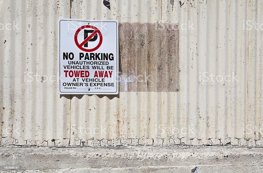 No Parking stock photo