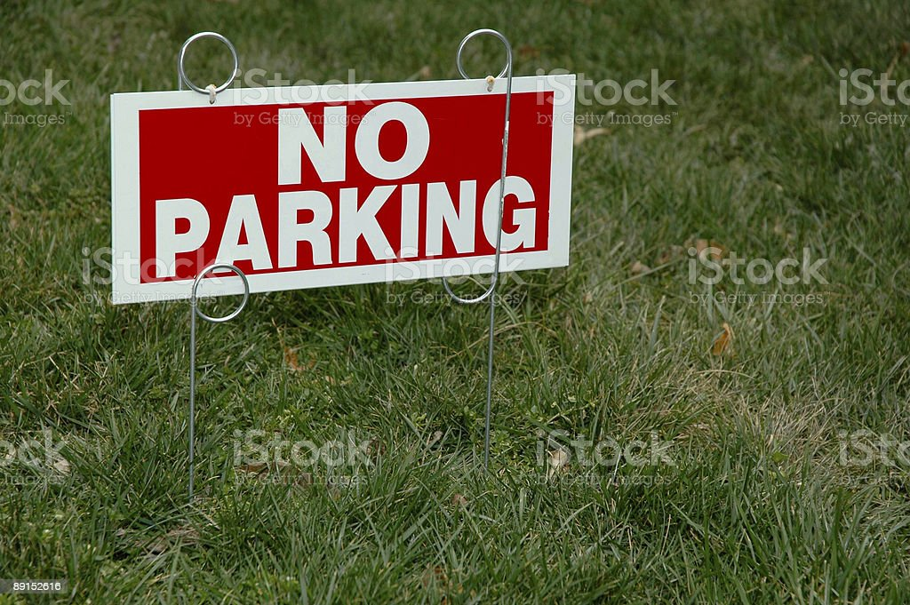 No Parking royalty-free stock photo