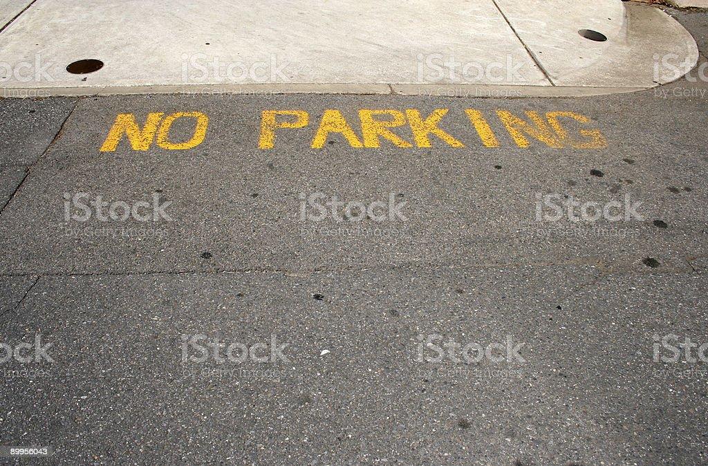 No parking royalty-free stock photo