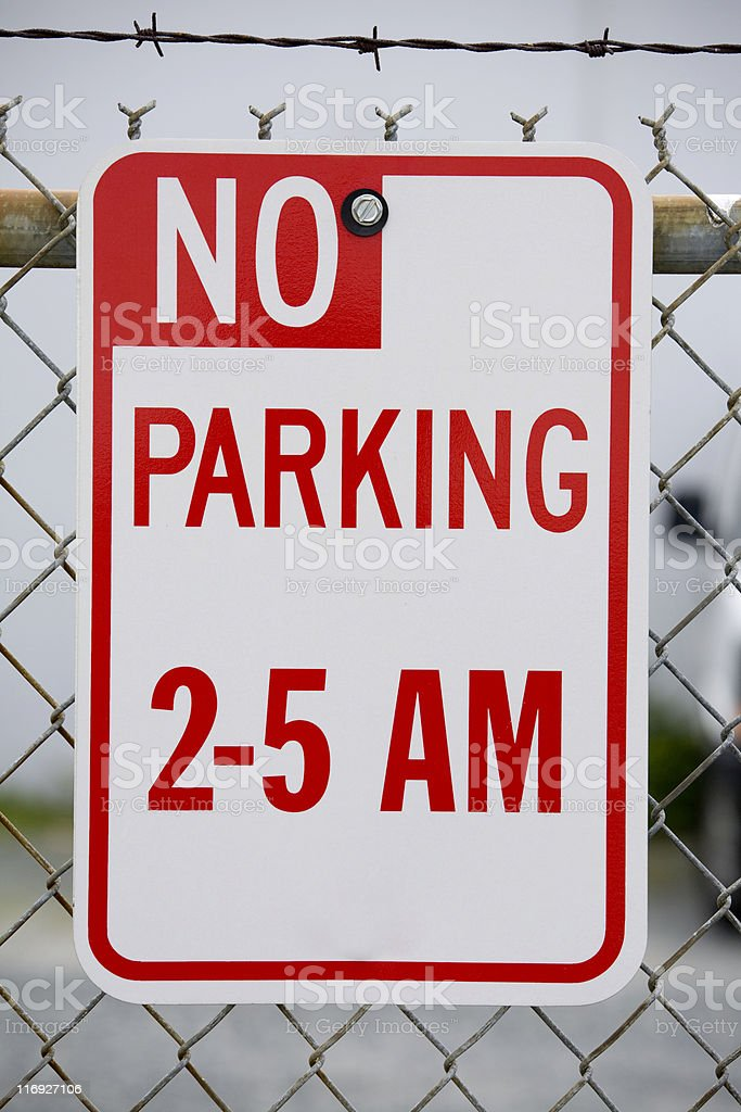 No Parking restriction stock photo